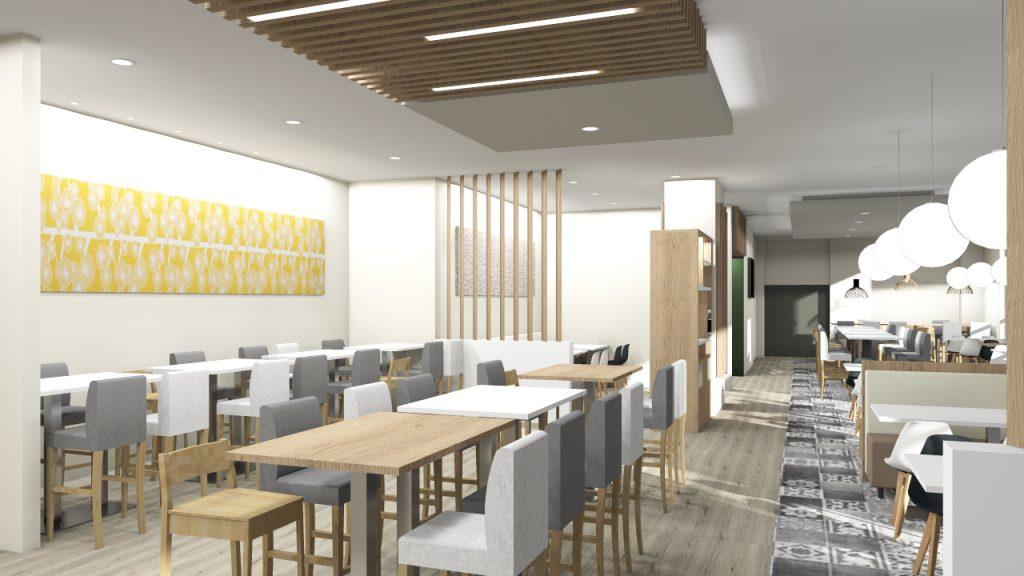 Wizualizacja restauracji Hilton Meble Radomsko